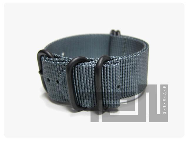 T2N Strap(T2Nストラップ) CH24Z-5PGY 5RING ZULU/NATO ナイロン レギュラー 替えベルト 腕時計用