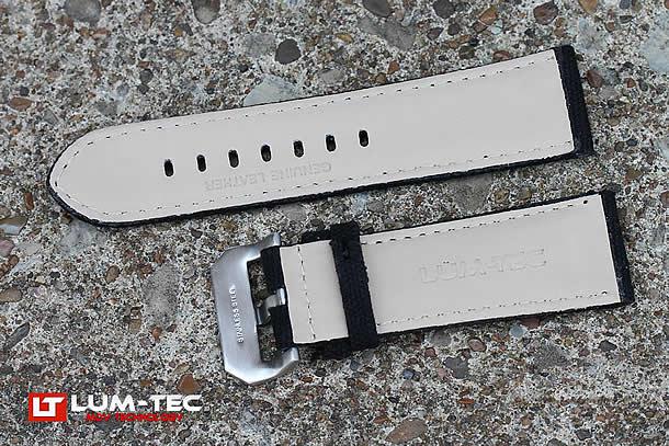 LUM-TEC(ルミテック) 【24/22MM 120/80】 ST312-24 レザーベルト 替えベルト 腕時計用