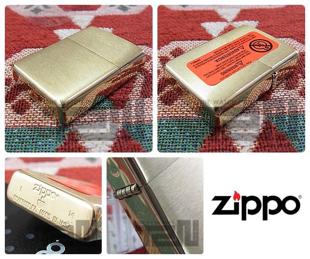 ZIPPO(ジッポー)168 ARMOR/アーマー ブラッシュBRASS/つや消しブラス FULL SIZE ZIPPO LIGHTER/ジッポライター