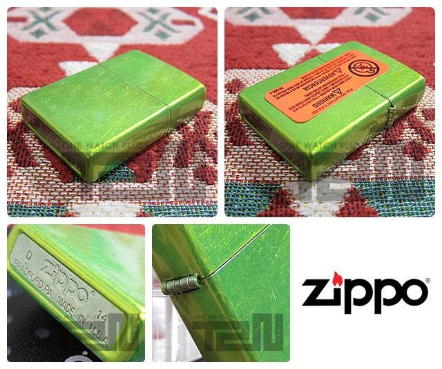 ZIPPO(ジッポー)24513 Lurid Finish/ルリッド ライムキャンディー FULL SIZE ZIPPO LIGHTER/ジッポライター