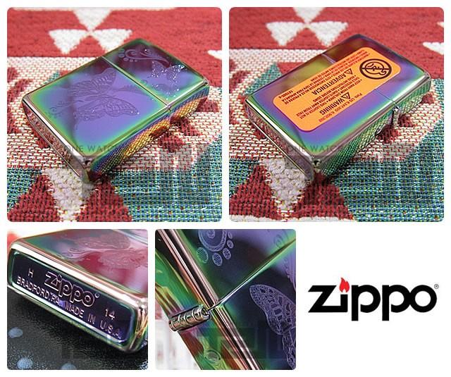 ZIPPO(ジッポー)28442 Butterfly Spectrum/スペクトラム 蝶/チョウ 虹色 FULL SIZE ZIPPO LIGHTER/ジッポライター