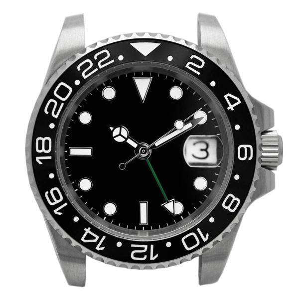 腕時計 メンズ NOLOGO ノーロゴ GMTマスター パイロットウォッチ NL000M|googoods|08