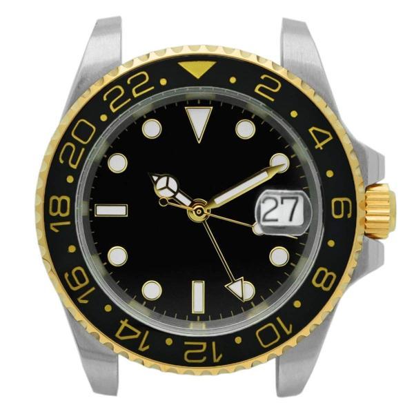 腕時計 メンズ NOLOGO ノーロゴ GMTマスター パイロットウォッチ NL000M|googoods|12