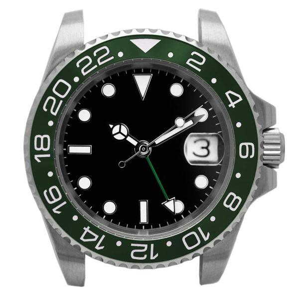 腕時計 メンズ NOLOGO ノーロゴ GMTマスター パイロットウォッチ NL000M|googoods|11