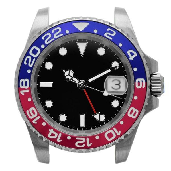 腕時計 メンズ NOLOGO ノーロゴ GMTマスター パイロットウォッチ NL000M|googoods|07