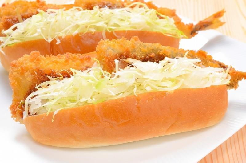 アジフライ サンドイッチ