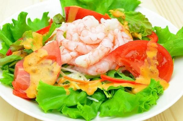 甘海老海鮮サラダ