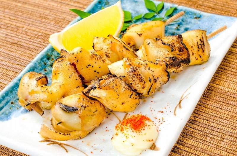 つぶ貝串焼き