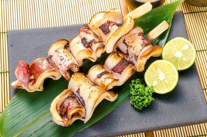 いかおやじ イカ串 皿盛り1