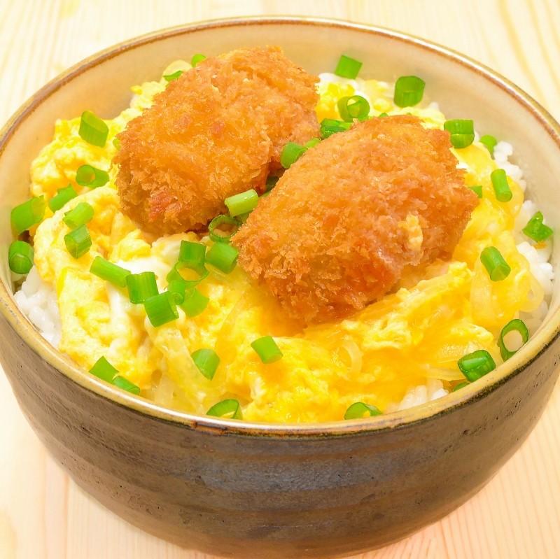 カキフライ卵とじ丼