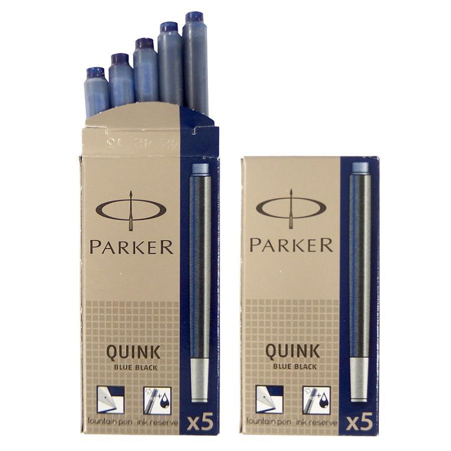 クリックポスト送料無料 パーカー PARKER 万年筆 カートリッジ インク クインク QUINK 各色 2箱セット (1箱 5本入り) 3色展開 リフィル レフィル 日本正規品|gport|10
