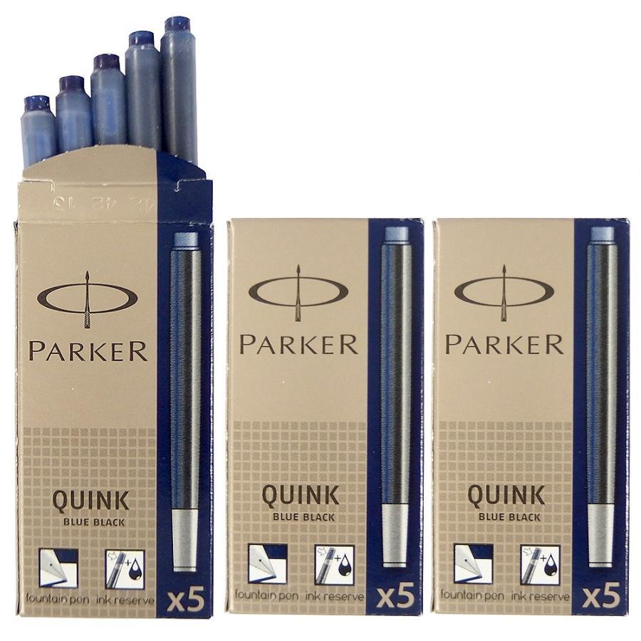 クリックポスト送料無料 パーカー PARKER 万年筆 カートリッジ インク クインク QUINK 各色 3箱セット (1箱 5本入り) 3色展開 リフィル レフィル 日本正規品|gport|10