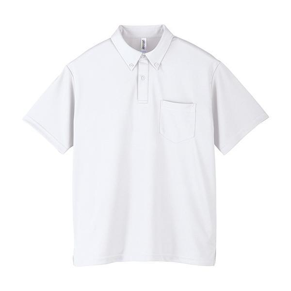 ポロシャツ メンズ 半袖 ボタンダウン 吸汗速乾 ゴルフ スポーツ 無地 glimmer グリマー 4.4オンス ドライボタンダウンポロシャツ(ポケット付き) 00331-ABP|grafit|16
