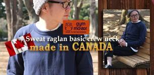 ラグランスウェットトレーナーmade in CANADA