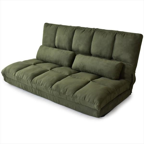 ソファ ソファー sofa ソファベッド ベット リクライニング セミダブル 2人掛け ローソファ ローソファー 2way 3way リーフ|grazia-doris|15