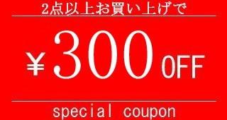 2点購入で300円OFF