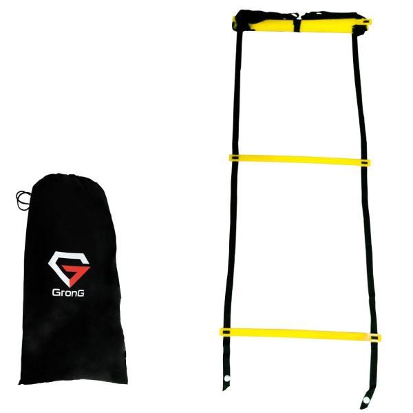 GronG(グロング) トレーニングラダー アジリティラダー サッカー 5m プレート 9枚 レール ハシゴ型 イエロー レッド 収納袋|grong|08