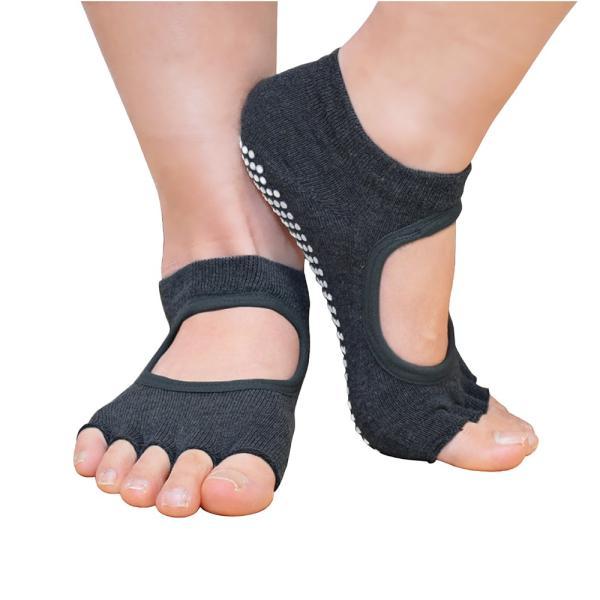 GronG ヨガ ソックス 1足セット 靴下 5本指 指なし 滑り止め 22cm〜25cm grong 09