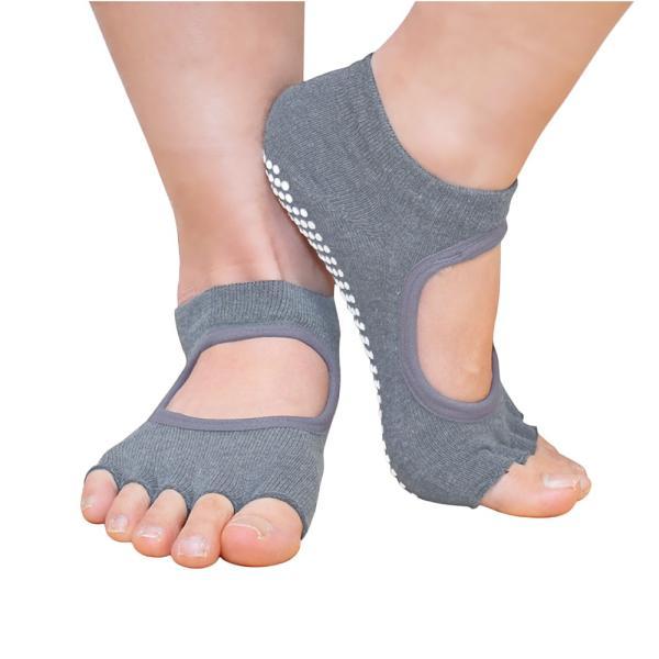GronG ヨガ ソックス 1足セット 靴下 5本指 指なし 滑り止め 22cm〜25cm grong 10
