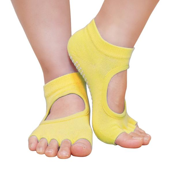 GronG ヨガ ソックス 1足セット 靴下 5本指 指なし 滑り止め 22cm〜25cm grong 14