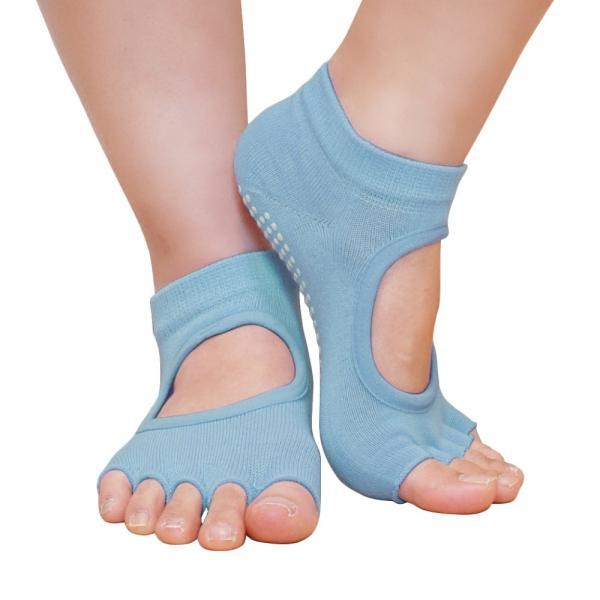 GronG ヨガ ソックス 1足セット 靴下 5本指 指なし 滑り止め 22cm〜25cm grong 15