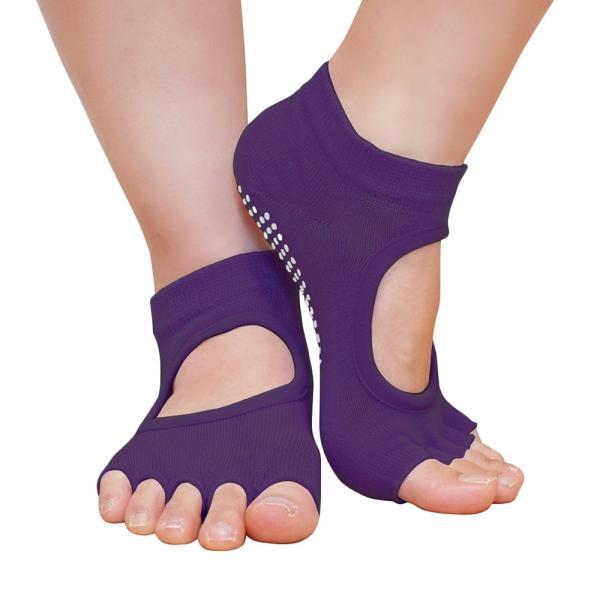 GronG ヨガ ソックス 1足セット 靴下 5本指 指なし 滑り止め 22cm〜25cm grong 16