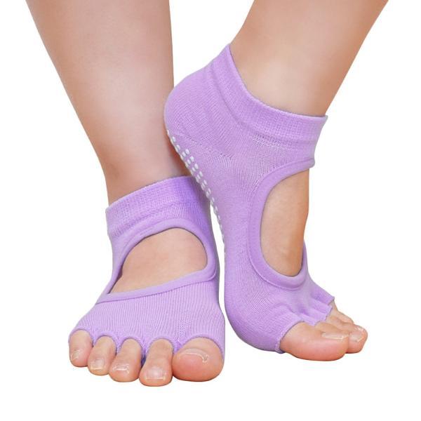 GronG ヨガ ソックス 1足セット 靴下 5本指 指なし 滑り止め 22cm〜25cm grong 17