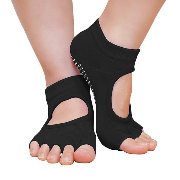 GronG ヨガ ソックス 4足セット 靴下 5本指 指なし 滑り止め 22cm〜25cm|grong|07