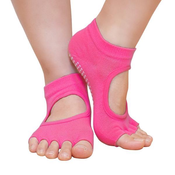 GronG ヨガ ソックス 4足セット 靴下 5本指 指なし 滑り止め 22cm〜25cm|grong|10