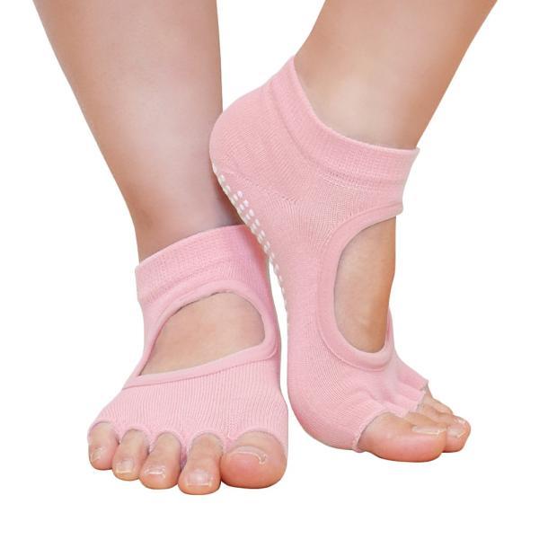 GronG ヨガ ソックス 4足セット 靴下 5本指 指なし 滑り止め 22cm〜25cm|grong|11
