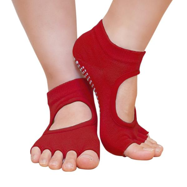 GronG ヨガ ソックス 4足セット 靴下 5本指 指なし 滑り止め 22cm〜25cm|grong|12