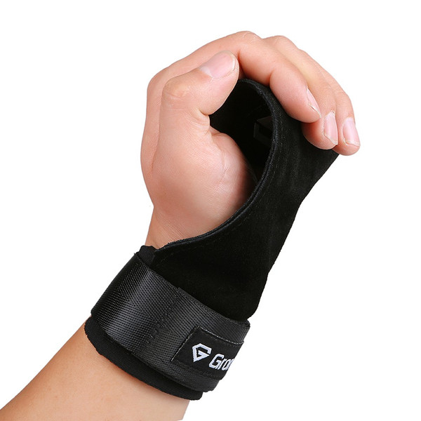GronG パワーグリップ 本革 左右セット トレーニング プル系 プッシュ系 筋トレ リスト 長さ調節可能 メンズ レディース|grong|07