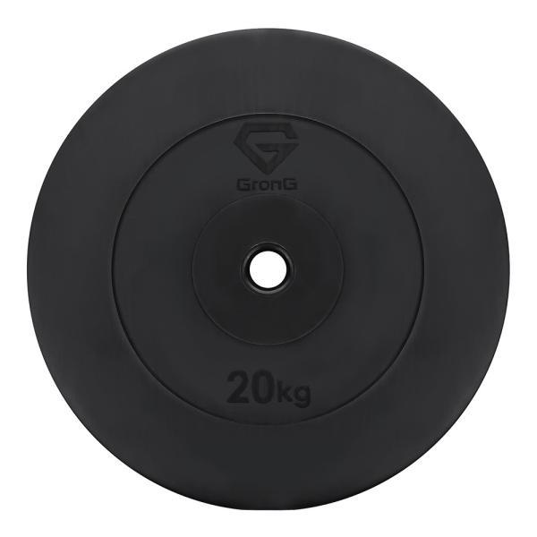 GronGダンベル バーベル プレート 20kg  筋トレ 器具 ウエイト シャフト径28mm|grong|08