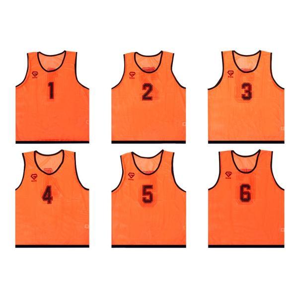 GronG ビブス ゼッケン メッシュ 6枚セット サッカー バスケットボール フットサル grong 08