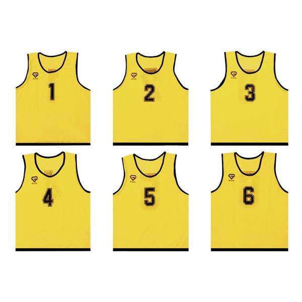 GronG ビブス ゼッケン メッシュ 6枚セット サッカー バスケットボール フットサル grong 09