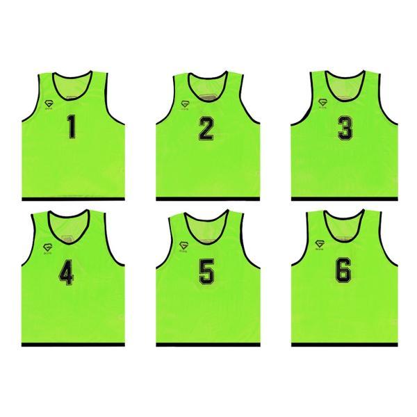 GronG ビブス ゼッケン メッシュ 6枚セット サッカー バスケットボール フットサル grong 10