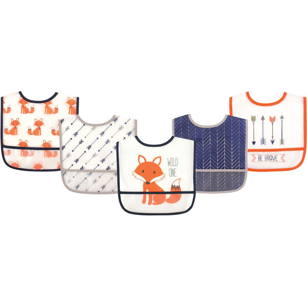 ポケット付き 防水食事用エプロン 5枚入り (ビブセット 動物 新生児 お食事エプロン 保育園) gudezacom 08
