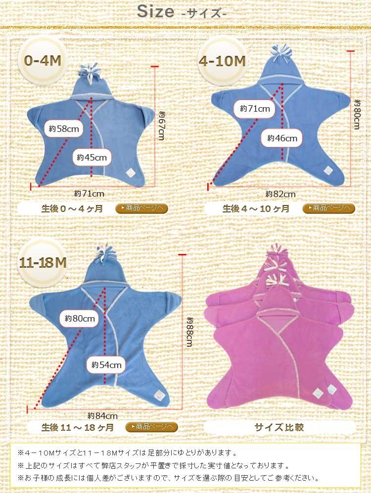 星型アフガン スターラップ サイズ比較