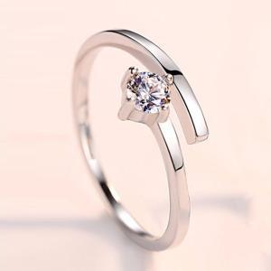 指輪 フリーサイズ/一粒 リング 指輪/レディース/ピンキーリング/プラチナ仕上げ/シルバー クリスマス プレゼント 女性 アクセサリー ジュエリー|gulamu-jewelry|14