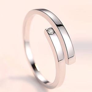 指輪 フリーサイズ/一粒 リング 指輪/レディース/ピンキーリング/プラチナ仕上げ/シルバー クリスマス プレゼント 女性 アクセサリー ジュエリー|gulamu-jewelry|15