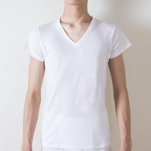 綿100 GUNZE(グンゼ)/the GUNZE(ザグンゼ)/【SEASON】VネックTシャツ(短袖)(汗とり付)(V首)(紳士)/春夏シャツ/CK9312N|gunze|07