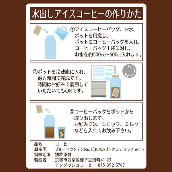 水出しアイスコーヒーバッグの使い方