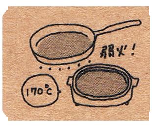 雑穀米パンケーキの焼き方