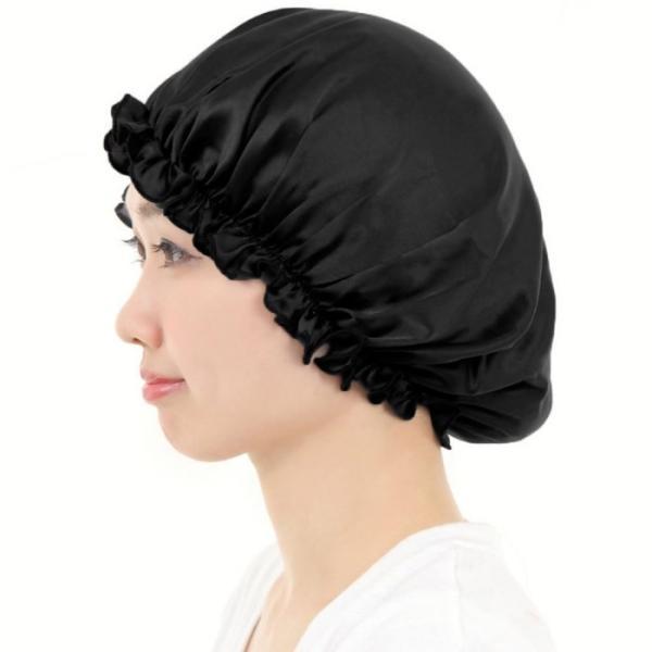 ロングヘア用 ナイトキャップ シルク 就寝用 ヘアキャップ 大きめ 大判サイズ レディース AQshop LG|h-mango|12