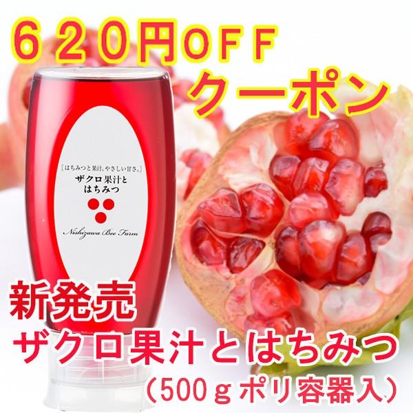 【620円OFFクーポン】新発売 ザクロ果汁とはちみつ(500gポリ容器入り)