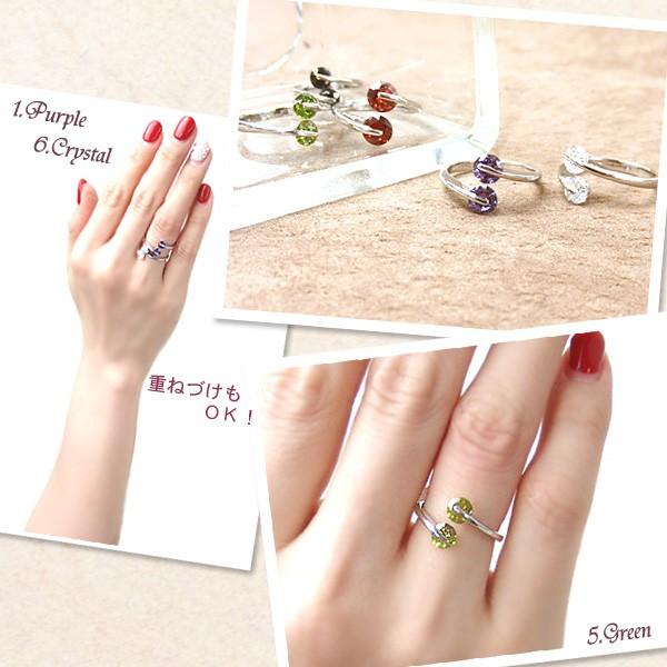 上質なクリスタルを使用したフェミニンな指輪
