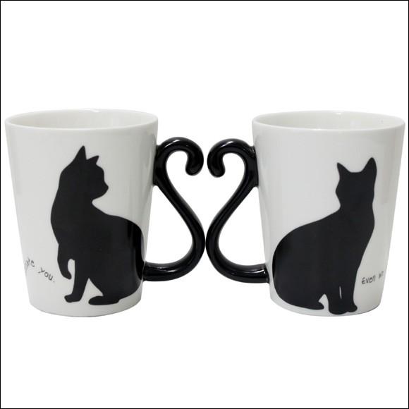 アルタ マグカップルペア 黒猫 シンプル AR0604085