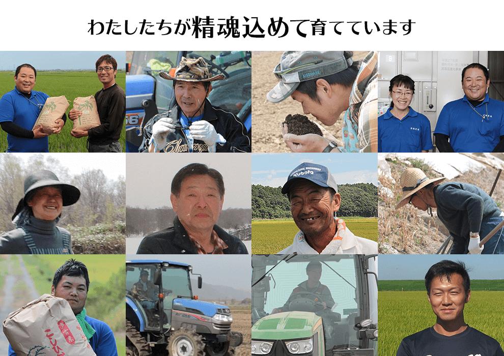 白米屋と強力なタッグを組む北海道の農家さん達 わたしたちが精魂込めて育てています