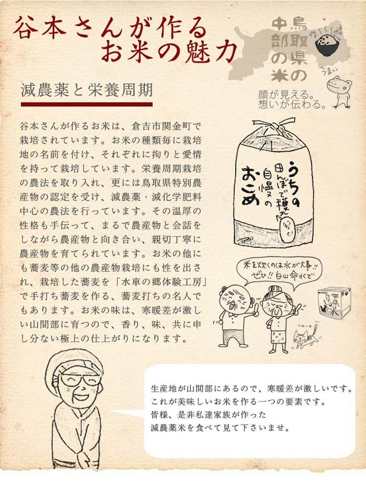 谷本さん家のお米の魅力