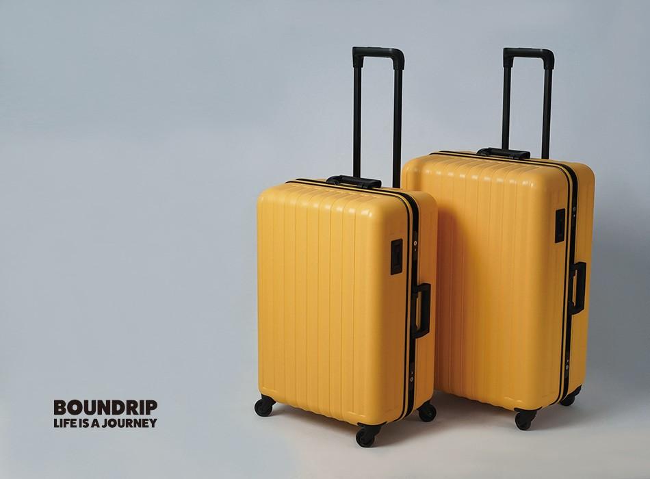 トリオのバウンドリップシリーズはシンプルで大容量のスーツケース。